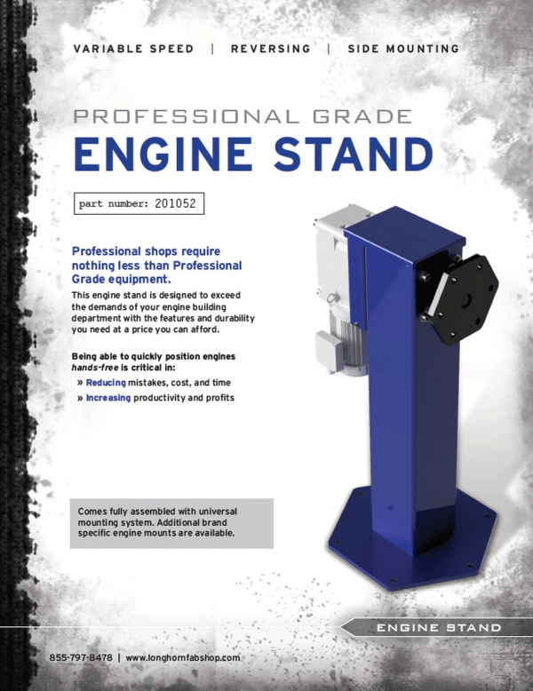 Industrial Rotator | Professional Grade Rotating Engine Stand | Floor Mount